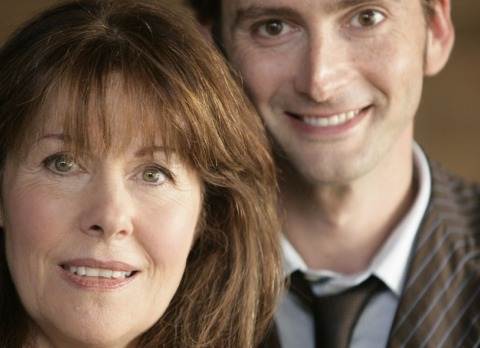 David Tennant & Lis Sladen In Doctor Who